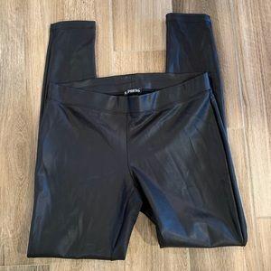 Express faux vegan leather leggings size medium